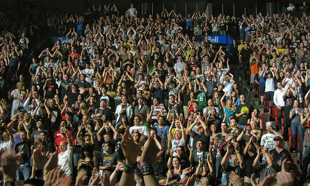 Green Day Concert Crowd - Put Your Hands Up For Green Day