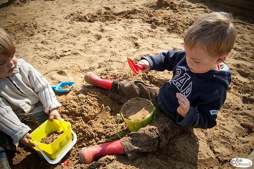 In the sandpit